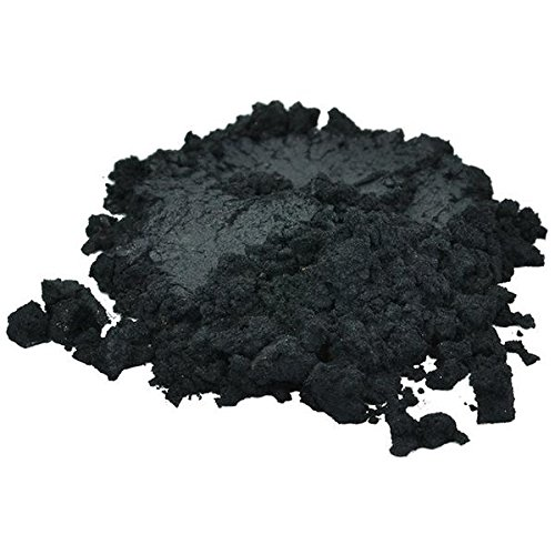 H&B Oils Center Co. Black Luxury Mica Colorant Pigment Powder Cosmetic Grade Eyeshadow Effects for Soap Candle Nail Polish 1 oz (Powder Matte Black)