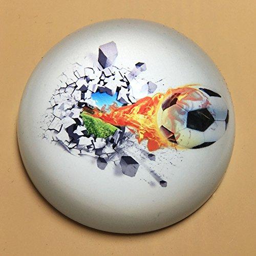 (Waltz&F Crystal Football Paperweight Galss Globe Hemisphere Home Office Table Decoration )