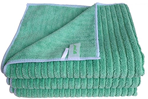 Bamboo & Microfiber Blend Kitchen Dish Towels by Gryeer | Soft and Absorbent Hand Towel | Durable & Thick Bar