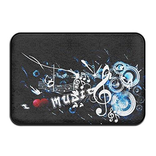Wild Music 16''24'' Door Mat Doormat Door Mats Rug Entrance Mat Entry - Panda White Playlist