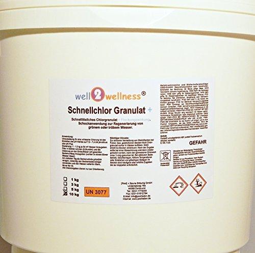 Schnellchlor Granulat+ (schnell lösliches Chlorgranulat 60% + Flockmittel) 10 kg