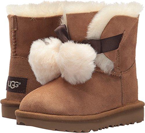 (UGG Girls T Gita Pull-on Boot, Chestnut, 11 M US Little)
