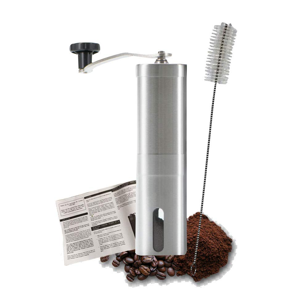 BPOPRIME Manual Coffee Grinder Conical Burr Mill With Portable Durable Hand Crank