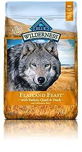 BLUE Wilderness Grain-Free Flatland Feast with Turkey, Quail & Duck Dry Dog Food 22-lb