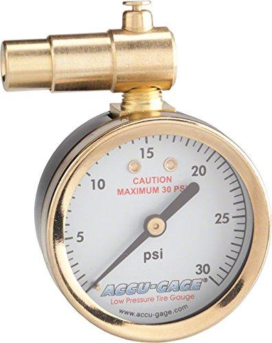 Meiser Presta-Valve Dial Gauge with Pressure Relief: 30psi