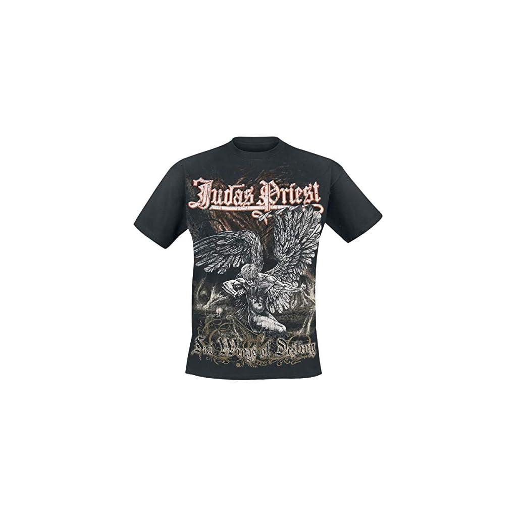 Judas Priest Sad Wings Camiseta Negra