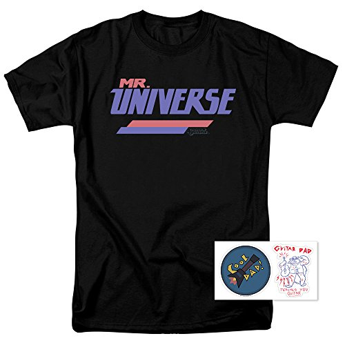 Steven Universe Mr  Universe Cartoon Network T Shirt   Exclusive Stickers  Small