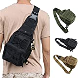 ATAIRSOFT Multi Colors Outdoor Tactical MOLLE Sling Pack Chest Pack (Black) For Sale