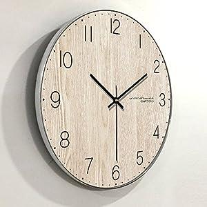Wall clock Reloj de Madera Reloj Redondo Sala de Estar Dormitorio silencioso Reloj de Pared Puntero de Metal Barrido Movimiento 1 AA batería de Carbono 12 Pulgadas 14 Pulgadas 16 Pulgadas 1