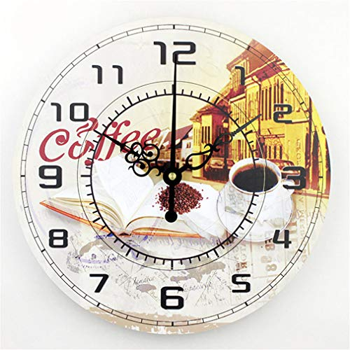 Modern Coffee Large Decorative Wall Clocks Mute Home Decoration Kitchen Wall Clock Fashion Wall Watches Orologi Parete Style 24 14 inch
