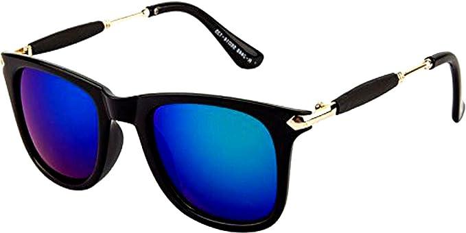 37d9f8839c Y S Mercury Mirror Reflector Wayfarer Unisex Sunglasses with Golden ...