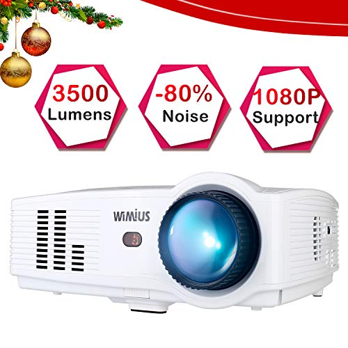 Theater No Projector Lens (Projector, WiMiUS T4 3500 Lumens 5.8 Inch LCD Projector Support 200