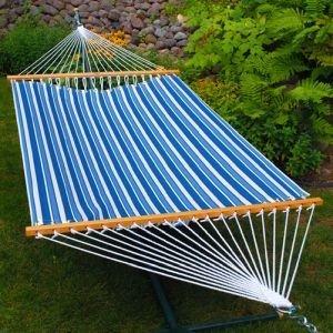 Algoma 11' Fabric Hammock (Sling Hammock - Blue/Blue Stripe (11ft))