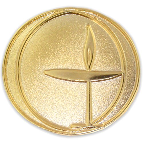 PinMart's Gold Plated Unitarian Universalism Religious Lapel Pin Chalice Lapel Pin