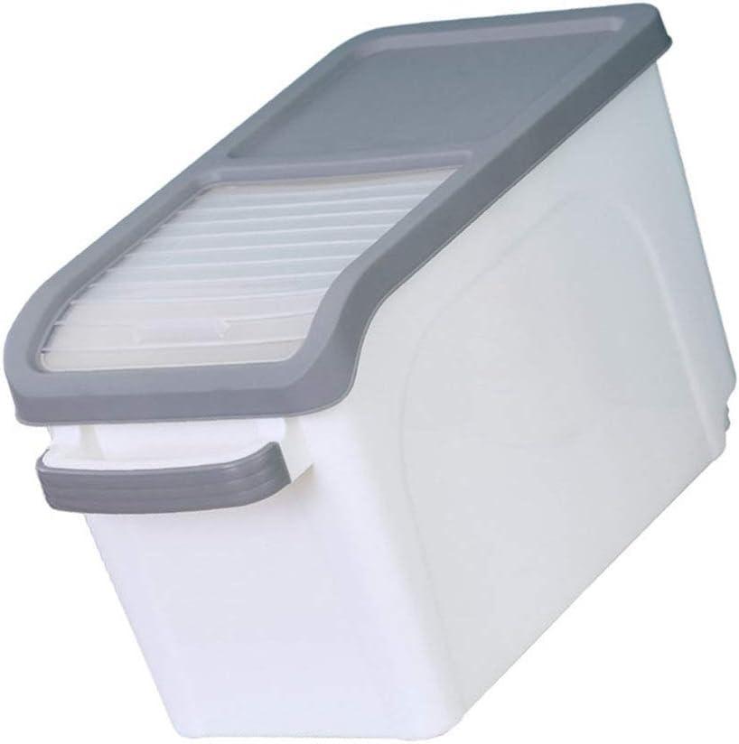 YARDWE Plastic Grain Box Grain Rice Storage Bin Dry Food Airtight Containers Leak Proof Locking Lid Sealed Holder Bin Dispenser for Pet Food Cereal Flour and Oatmeal Holder 15kg