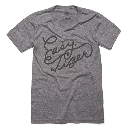 Thing About Crewneck T-shirt - Easy, Tiger Unisex Crew Neck T-Shirt, Grey Easy, Tiger (Medium)