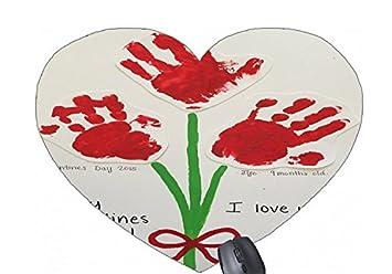 Amazon Com Baby Handprint Valentines Day Craft Pattern Printed