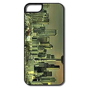 IPhone 5 5S Hard Plastic Cases, Seattle Tower White/black Cases For IPhone 5