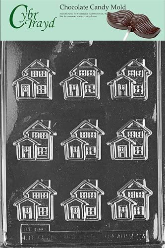 Cybrtrayd M064 For Sale House Chocolate Candy Mold with Exclusive Cybrtrayd Copyrighted Chocolate Molding Instructions