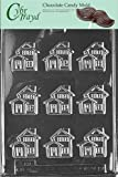 Cybrtrayd M114 Little House Chocolate Candy Mold with Exclusive Cybrtrayd Copyrighted Chocolate Molding Instructions