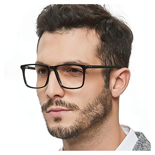 138 Eyeglasses - OCCI CHIARI Blue Light Block Reading Glasses Computer Prescription Eyeglasses UV400 Protection Reader For Men Fashion(Black 350)