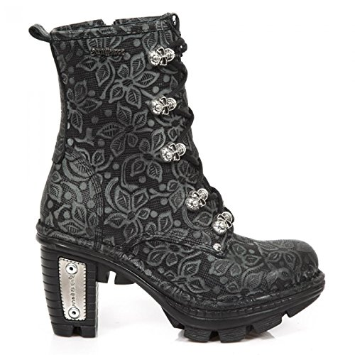 New Rock Laarzen M.neotr054-s1 Gothic Hardrock Punk Damen Stiefel Schwarz