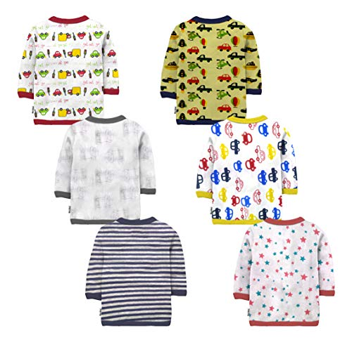 NammaBaby Baby Boys' & Baby Girls' T-Shirt (Pack of 6)