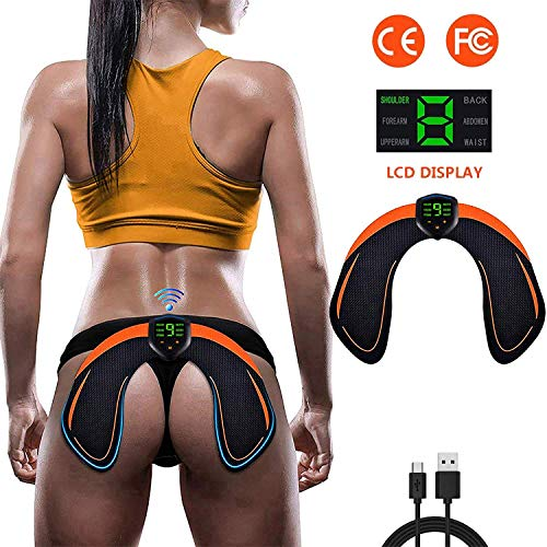 ABS Stimulator Hips Trainer with LCD Display & USB Rechargeable & Butt Lifting Buttocks Enhancement Device Sexy Hips Shaping Equipment for Men and Women