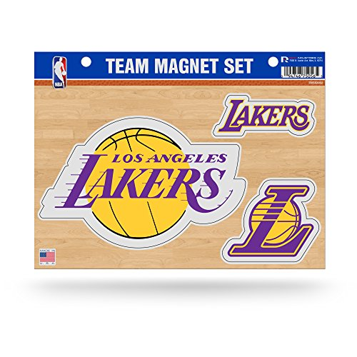 NBA Los Angeles Lakers Die Cut Team Magnet Set Sheet