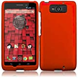 Warrior Wireless (TM) For Motorola Droid Maxx XT-1080M / Droid Ultra XT-1080 Rubberized Cover Case - Orange + Bundle = (ITEM + CELLPHONE STAND) - By TheTargetBuys