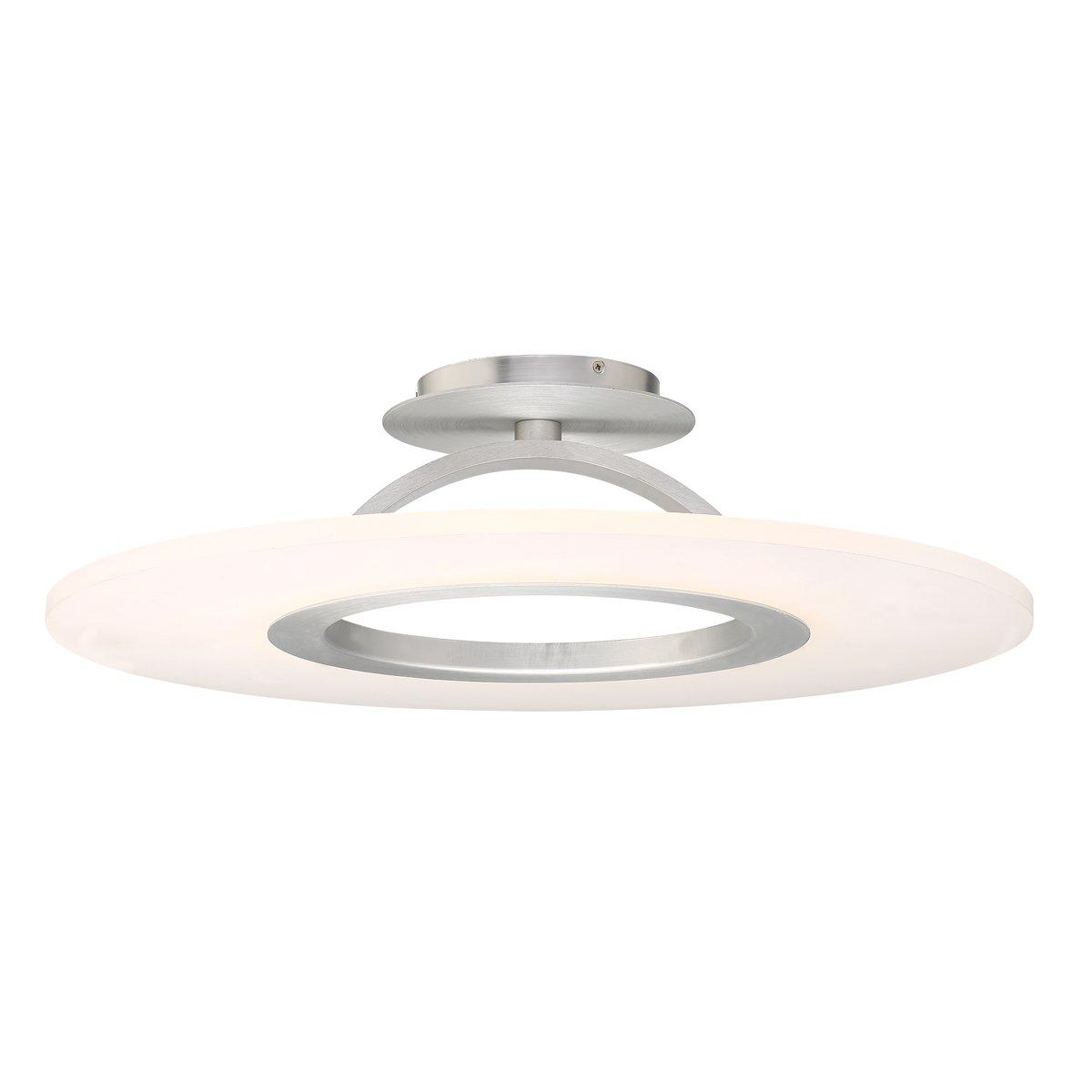 WAC Lighting FM-21728-AL Elektron 28'' LED Convertible Semi-Flush Mount, 28 Inches, Brushed Aluminum