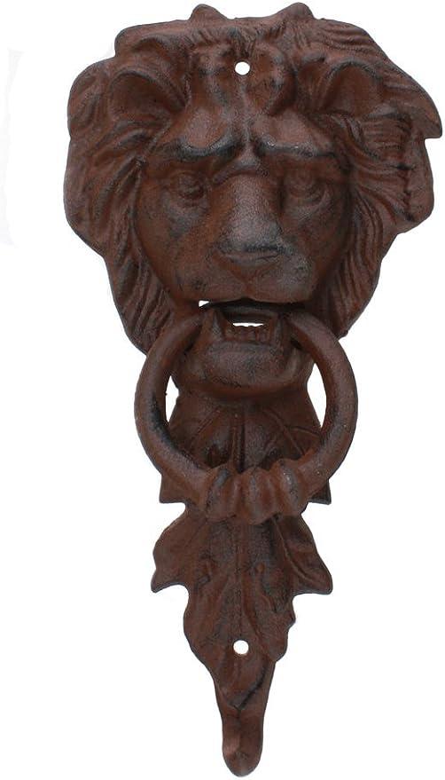 Lion Head Door Knocker Bronze Cast Iron