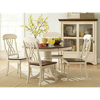 Amazon Homelegance Ohana 5 Piece Round Dining Table Set in