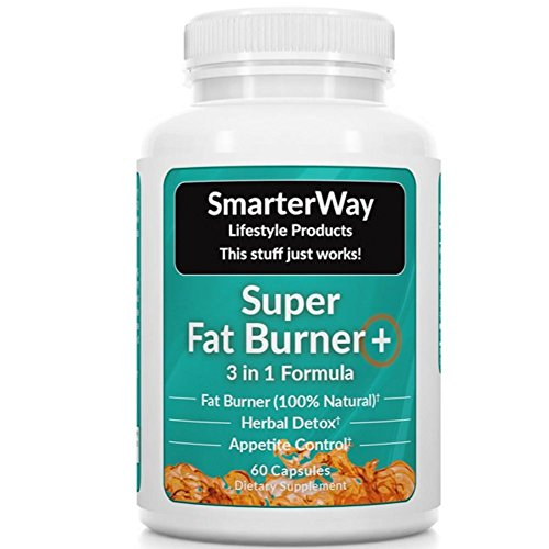 Smarterway | 3 in 1 Fat Burner | GREEN TEA GARCINIA FORSKOLIN | Carb Blocker, Fat Blocker Metabolism Booster, Carb Burner, Appetite Suppressant | 60 Weight Loss Pills (Counting Calories And Exercising Not Losing Weight)