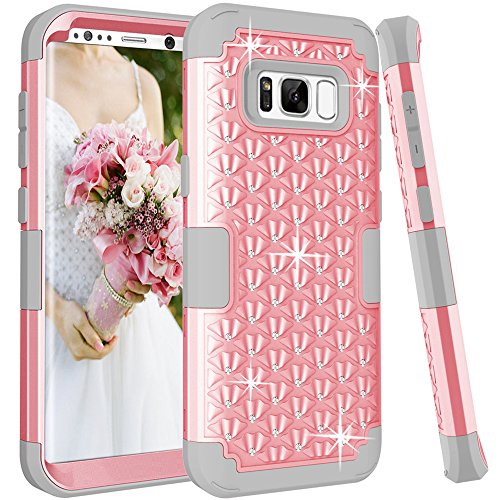Cheap Accessory Kits Samsung Galaxy S8 Plus Case, TOPBIN [Shiny Bling] & [Diamond] 3 in..