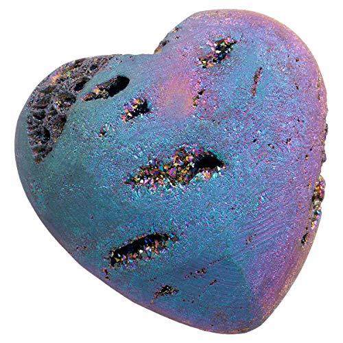TUMBEELLUWA Healing Stones Carved Heart Puff Love Crystal Chakra Worry Reiki Pocket Palm Stone 1.5