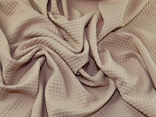 Textured Squares Surface Stretch Jersey Knit Dress Fabric Nude - per (Textured Stretch Knit)