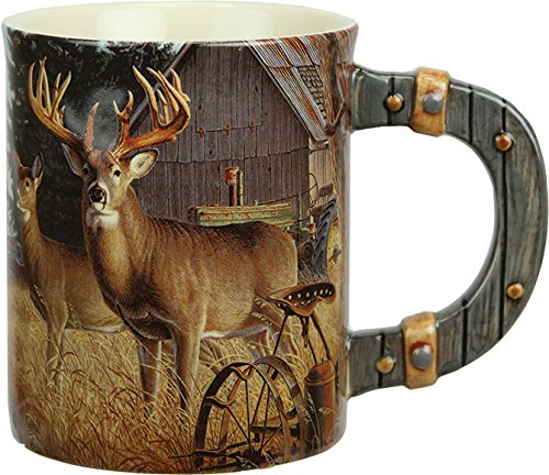 River's Edge Products 3D 15 oz. Mug - Deer/Farm Scene
