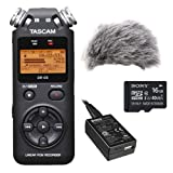 TASCAM DR-05 Portable Digital Recorder Kit with Custom Windbuster and USB Power Adapter and 16GB microSDHC Class 10 Memory Card