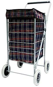 compra De 4Ruedas Azul Cuadros Escoceses impermeable plegable bolsa con ruedas