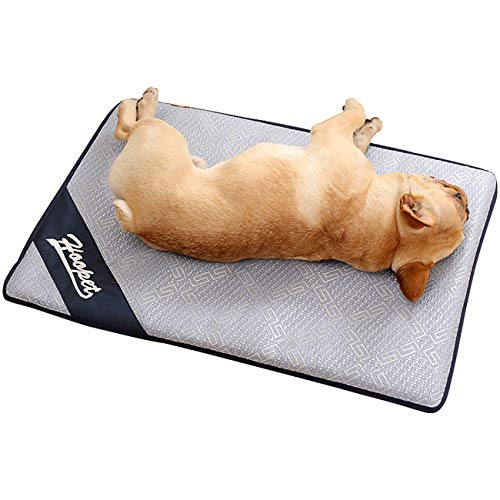 (Uheng Pets Dogs Self Cooling Pad Chillz Mat Blanket - Summer Cats Breathable Sleep Bed Couch for Home and Travel - Prevent Overheating and Dehydration for Kennels, Crates, Chair, Floor)