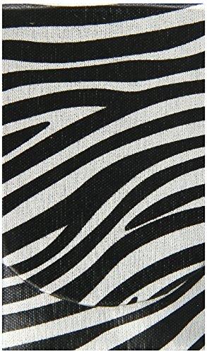 Boston International Silver Zebra Pocket Tissue Holder -