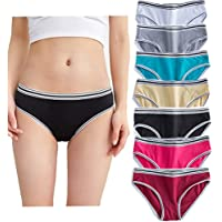 7-Pack YaoKing Women's Underwear Cotton Bikini Panties Hipster Panty Comfy Briefs