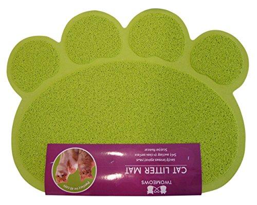 Two Meows Litter Mat - Green