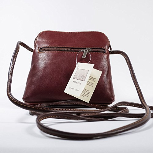 Shoulder Soft Real Italian Handbag Coffee Bag Light Body Cross Leather Navy OZSZqAw