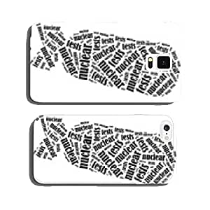 Word cloud illustration related to nuclear tests cell phone cover case iPhone6