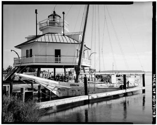 Photo Lighthouse Chesapeake Bay Maritime Museum c1900