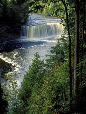 Tahquamenon Falls, Tahquamenon Falls State Park, Michigan, USA Photographic Poster Print by Claudia Adams