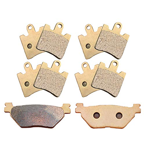 SYUU Motorcycle Front Rear Severe Duty Sintered Metal Brake Pads for Yamaha FJR1300 FJR 1300 2006-2018 XV1900 XV 1900 A Midnight Star 2011-2016 FA423F FA319R