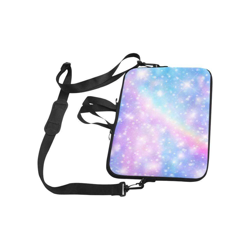 Galaxy Fantasy Pastel Color Briefcase Laptop Bag Messenger Shoulder Work Bag Crossbody Handbag for Business Travelling
